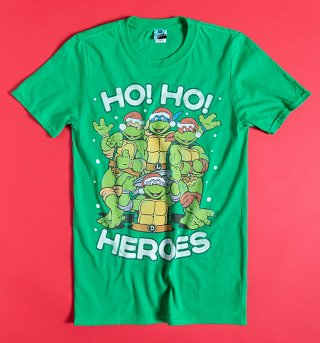 Teenage Mutant Ninja Turtles Ho Ho Heroes Green T-Shirt