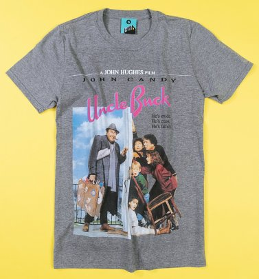 Uncle Buck Movie Poster Grey T-Shirt