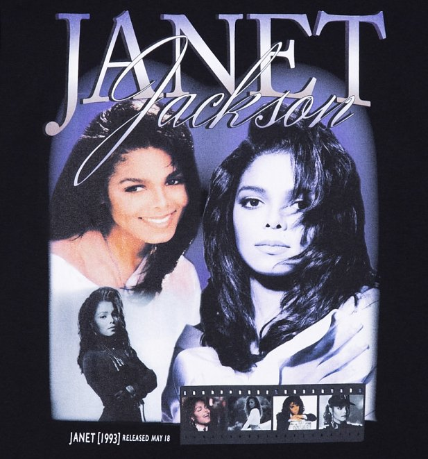 Black Janet Jackson T-Shirt from Homage Tees