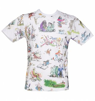 Unisex Roald Dahl All Over Print T-Shirt