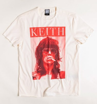 Vintage White Rolling Stones Keith T-Shirt from Amplified