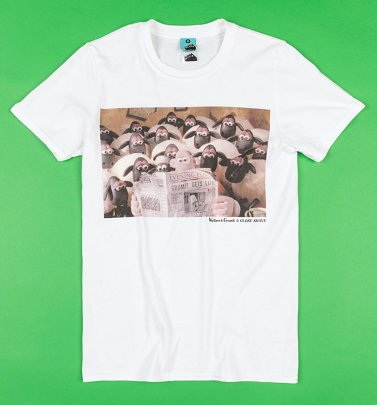Wallace And Gromit A Close Shave White T-Shirt