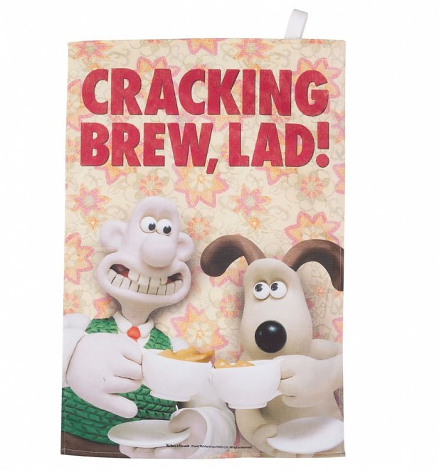 Wallace And Gromit Cracking Brew Tea Towel
