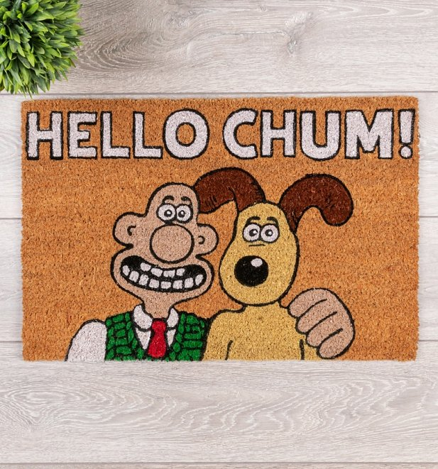 Wallace And Gromit Hello Chum Door Mat