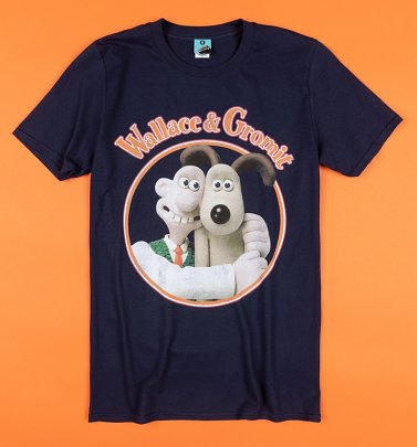 Wallace And Gromit Navy T-Shirt