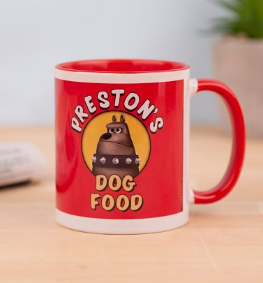 Wallace And Gromit Preston's Dog Food Red Coloured Handle Mug