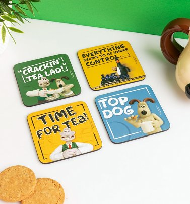 Wallace And Gromit Set Of Four Coasters