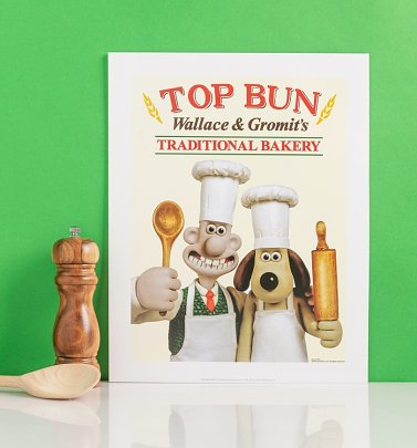 "Wallace And Gromit Top Bun 11"" x 14"" Art Print"