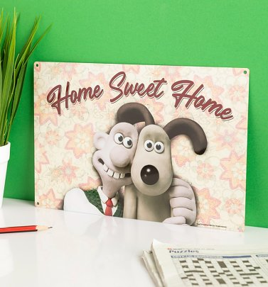 Wallace and Gromit Home Sweet Home Metal Sign