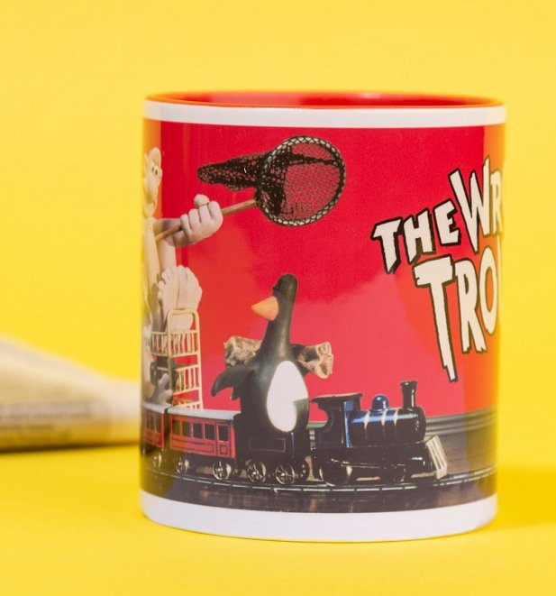 Wallace and Gromit The Wrong Trousers Red Handle Mug