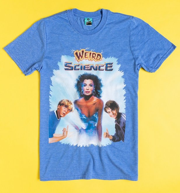 Weird Science Movie Poster Heather Blue T-Shirt