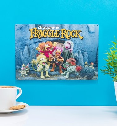 Welcome To Fraggle Rock Metal Sign
