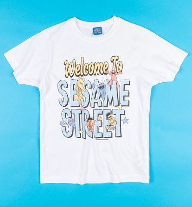 Welcome To Sesame Street White T-Shirt