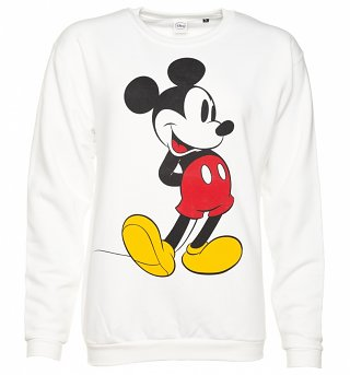 White Classic Mickey Mouse Disney Sweater
