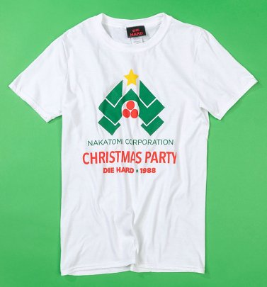 White Die Hard Nakatomi Corporation Christmas Party 1988 T-Shirt