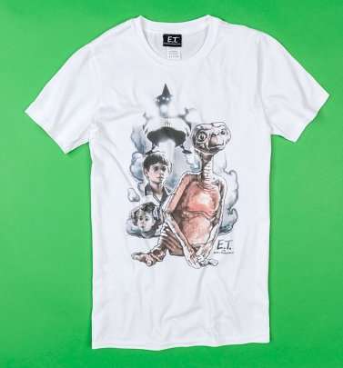 White E.T. Vintage Characters T-Shirt