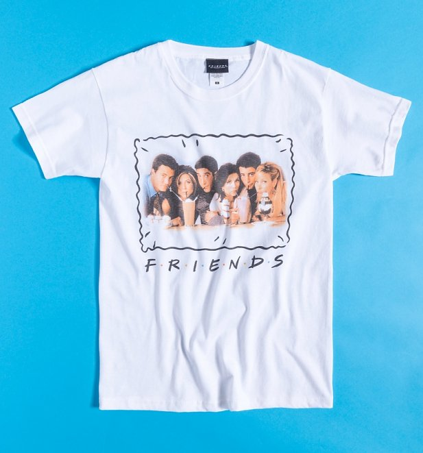 White Friends Milkshake Fitted T-Shirt