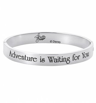White Gold Plated Beauty & The Beast Belle Adventure Is Waiting For You Bangle from Disney By Couture Kingdom