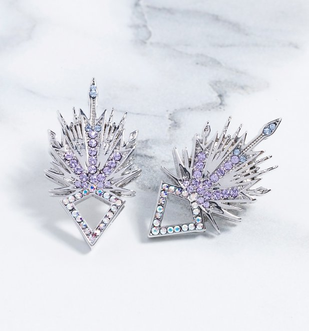 street price how to get special for shoe White Gold Plated Frozen 2 Swarovski Crystal Elsa Stud Earrings