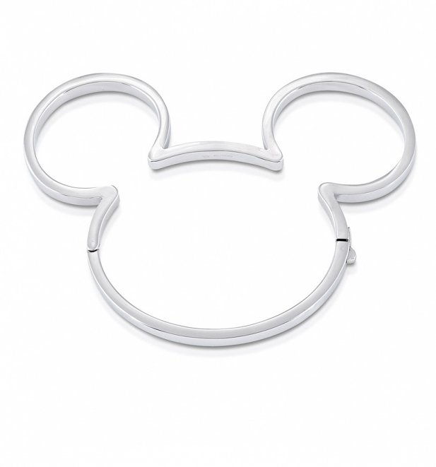 White Gold Plated Mickey Mouse Bangle from Disney by Couture Kingdom