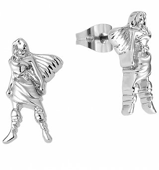 White Gold Plated Pocahontas Stud Earrings from Disney By Couture Kingdom