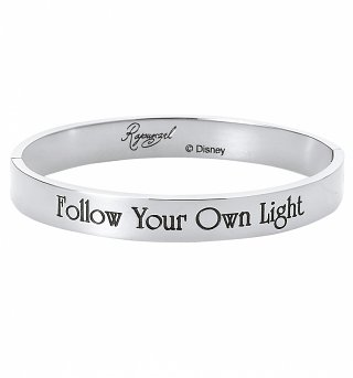 White Gold Plated Rapunzel Follow Your Own Light Bangle from Disney By Couture Kingdom