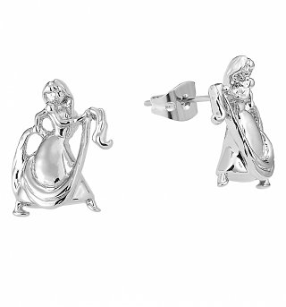 White Gold Plated Rapunzel Stud Earrings from Disney By Couture Kingdom