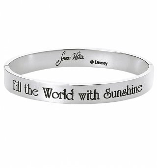 White Gold Plated Snow White Fill The World With Sunshine Bangle from Disney By Couture Kingdom