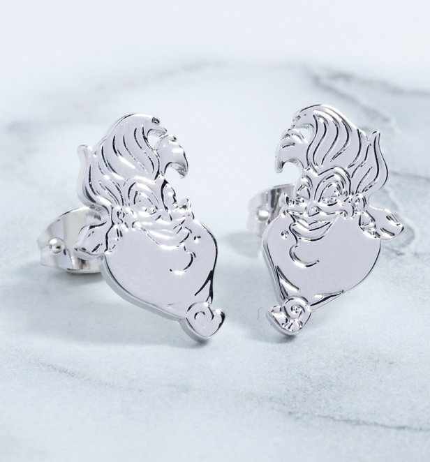 White Gold Plated The Little Mermaid Ursula Stud Earrings