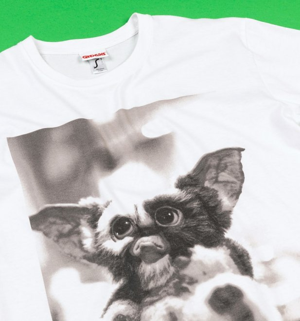 White Gremlins Gizmo Photo T-Shirt