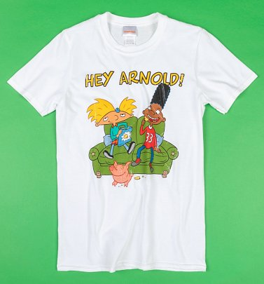 White Hey Arnold T-Shirt
