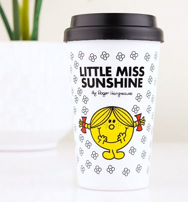 White Little Miss Sunshine Travel Mug