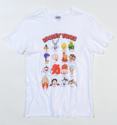 White Looney Tunes Faces T-Shirt