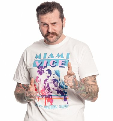 White Miami Vice T-Shirt