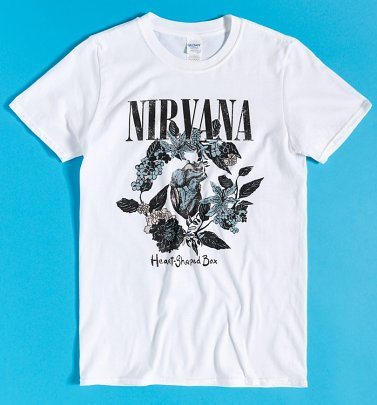 White Nirvana Heart-Shaped Box T-Shirt