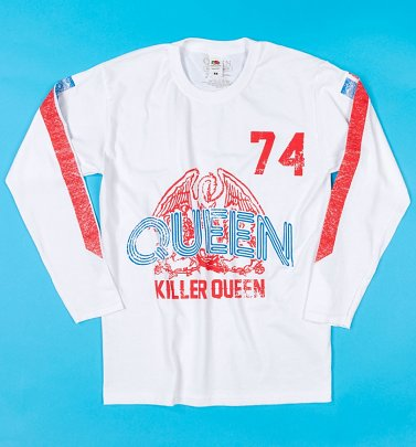 White Queen Killer Queen '74 Long Sleeve T-Shirt