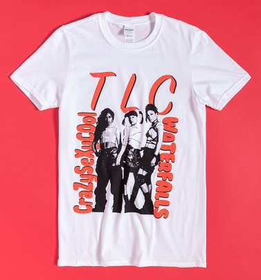 White TLC Waterfalls T-Shirt