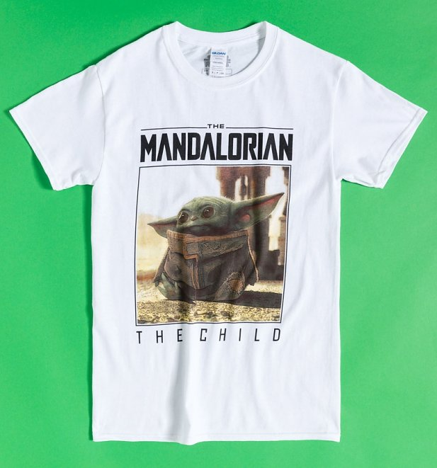 White The Child Mandalorian Frame T-Shirt