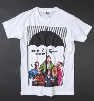 White The Umbrella Academy Poster T-Shirt