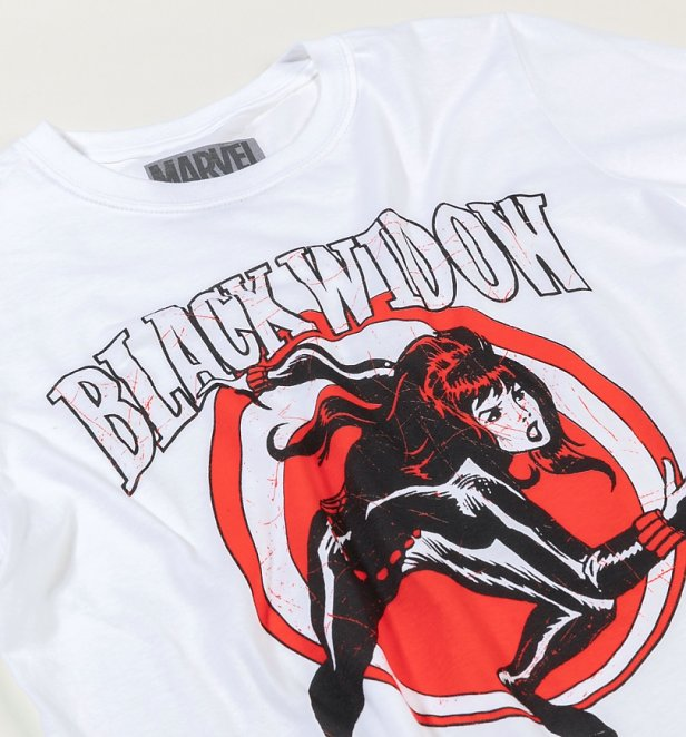 White Vintage Black Widow T-Shirt