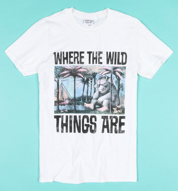 White Where The Wild Things Are Book Cover T-Shirt