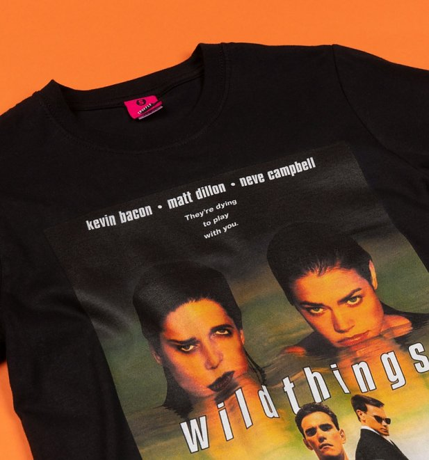 Wild Things Movie Poster Black T-Shirt