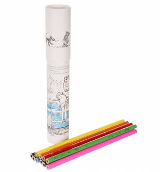 Winnie The Pooh Coloured Pencils In A Tube