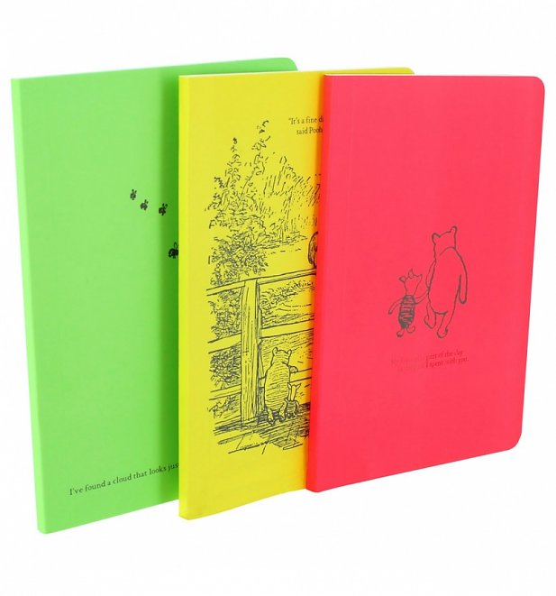 Winnie The Pooh Set Of Three Journals