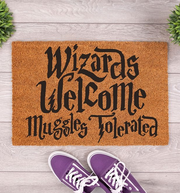 Wizards Welcome Muggles Tolerated Door Mat
