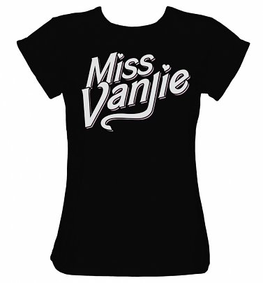 Women's RuPaul's Drag Race Inspired Miss Vanjie Black Boyfriend Fit Rolled Sleeve T-Shirt