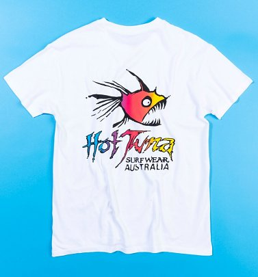 Women White Hot Tuna Oversized T-Shirt with Back Print