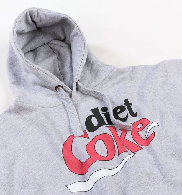 Women's Retro Diet Coke Logo Grey Hoodie