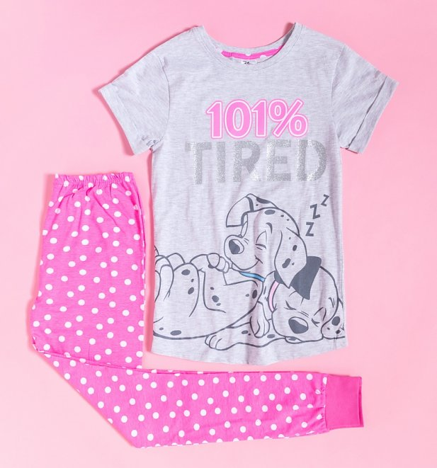 Women's 101 Dalmatians 101% Tired Pyjamas