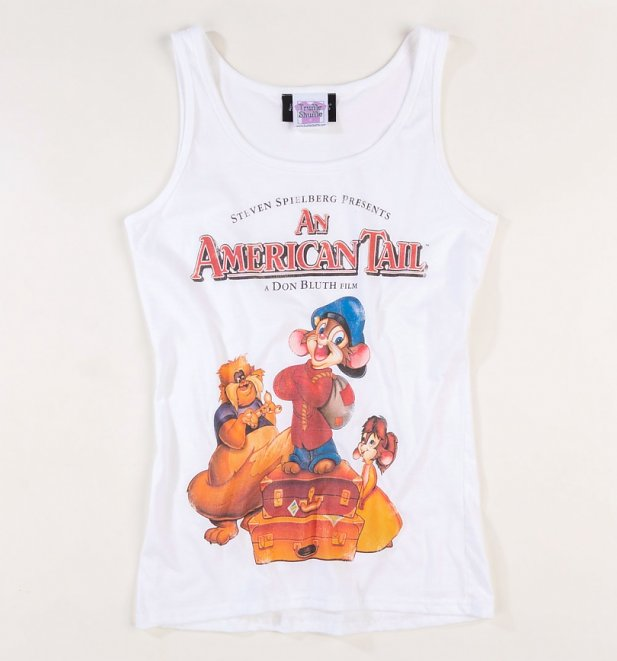 Women's An American Tail White Fitted Vest